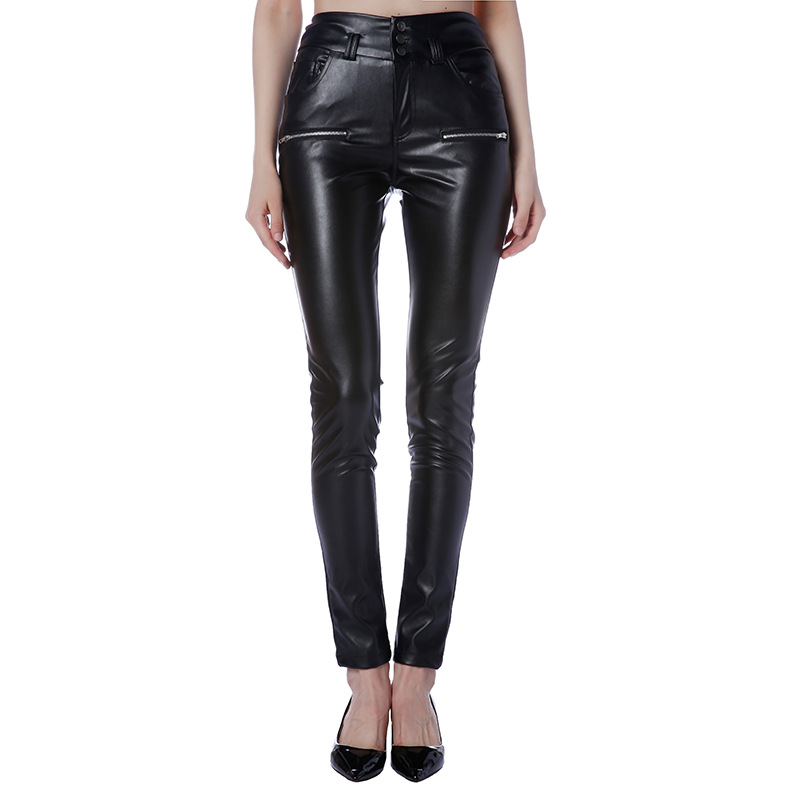 Модные Для женщин Повседневное Сексуальная обтяжку Высокая талия кожаные штаны для вечерние клубная одежда плюс размер s-3XL mujer ...