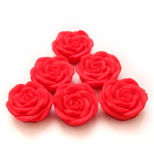 Rose Flower Shapes Silicone Chocolate Mold 6-Cavity Valentine Gift Mould