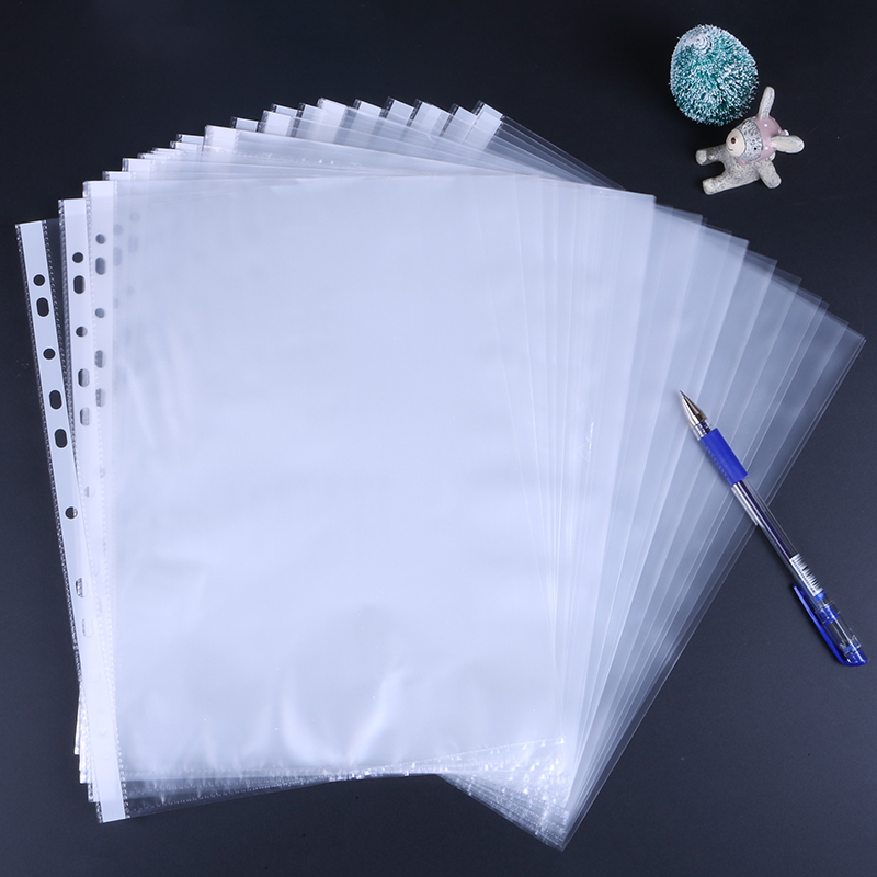 11 Holes 100Sheets Clear PP Transparent File Cover A4 Binding Fresentation Folder File Cover Documents Storage Film Office 5712