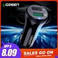 Ugreen Carregador de Carro de Carga Rápida 3.0 USB Carregador Rápido para Xiao mi mi 9 iPhone X Xr 8 Huawei Samsung S9 s8 QC 3.0 USB Carregador de Carro
