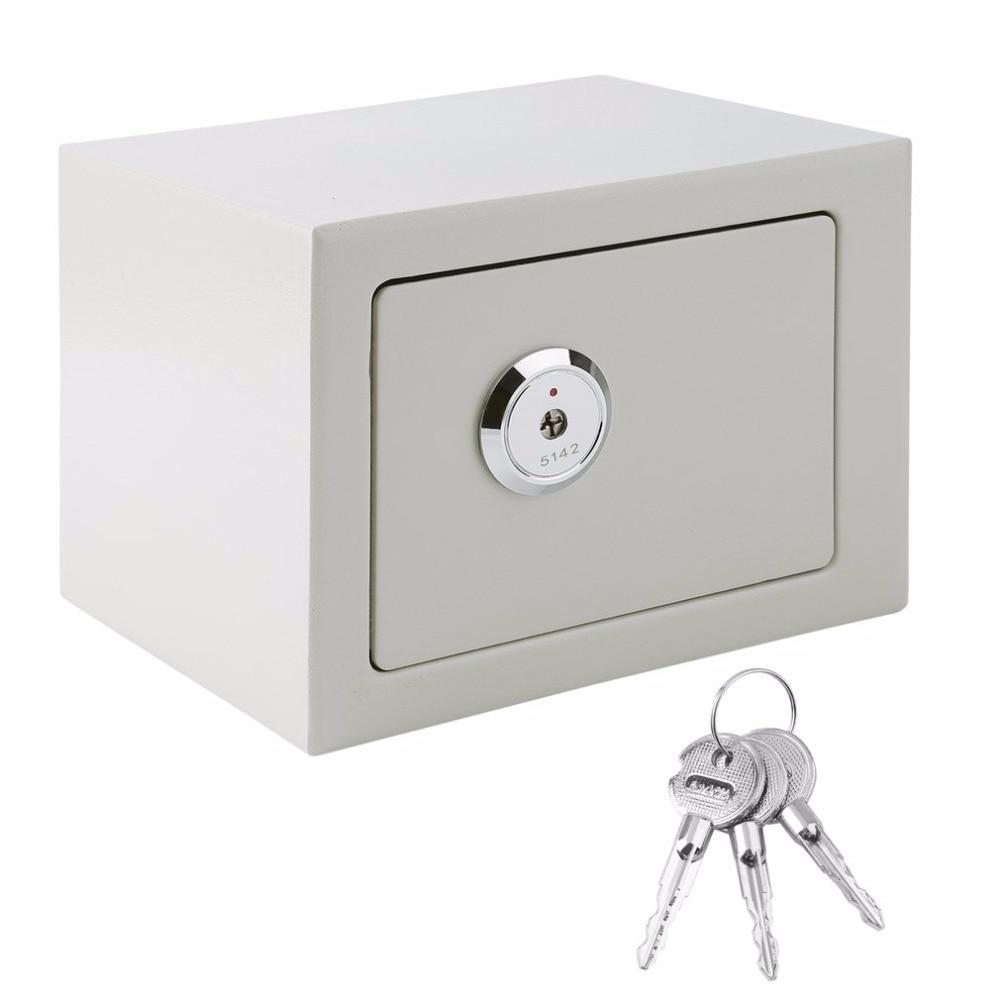 Durable secrete box Home Security Money Cash Safe Box Strong Steel key lock Safety Box Portable Lockable Jewelry Storage Case ospon outdoor key safe box keys storage