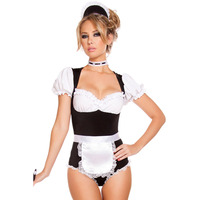 FGirl Cosplay Costume Sexy Halloween Costumes For Women One Size Foxy Cleaning Maid Costume FG30933