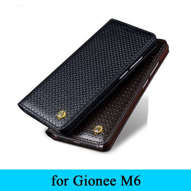2016 Продвижение Роскошные 100% Натуральная Кожа Телефон Случае для Gionee M6 Бизнес Откидная Крышка Бесплатная Доставка Оригинальный Дизайн