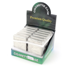 12 pcs/lot Classic Metal Cigarette Box Classical Tobacco Cigar Case Smoke Holder For Smoking Pipes