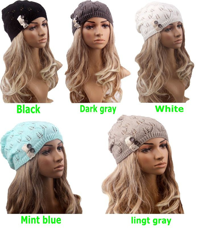 Retail Fashion winter hat Knitted Beanie Crochet Hat Boho Cap Lace ... 3a348e5cd19e