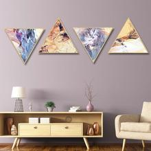 Modern abstract living room triple fresco Light luxury porch decorative painting Nordic ins wind home Background wall
