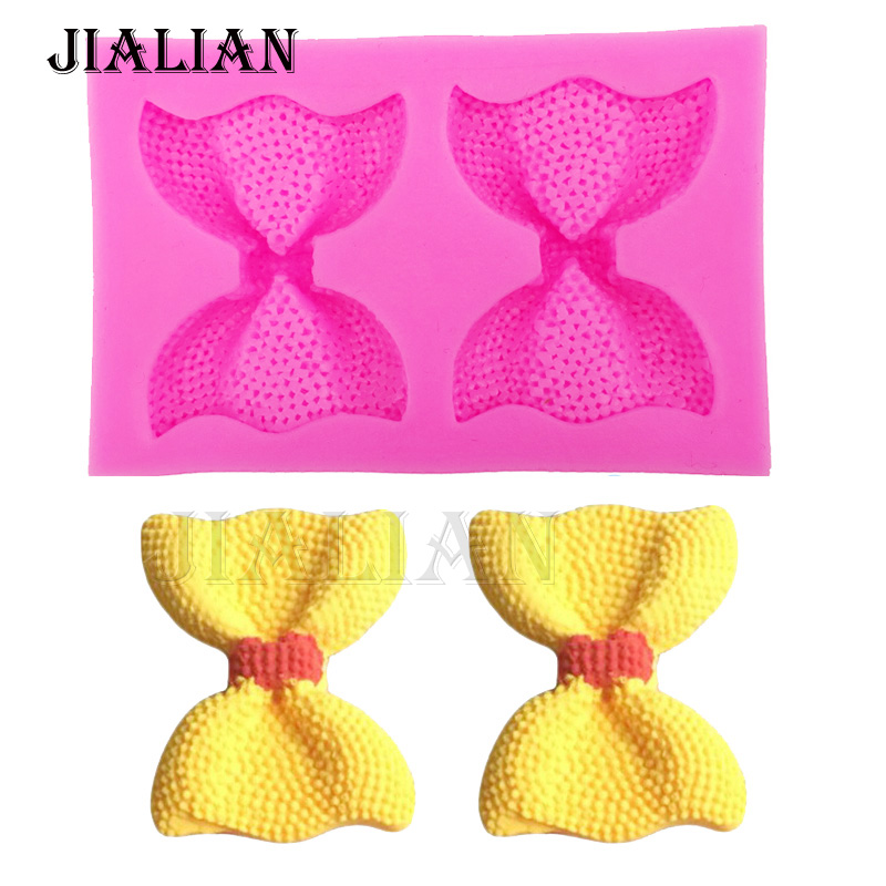 3D Bow chocolate wedding cake decorating tools DIY Bow-knot fondant silicone mold kitchen Baking Bakeware accessories T0284