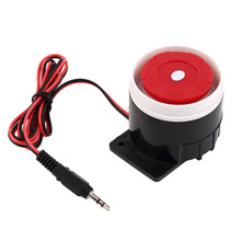 цена на Ear Piercing Indoor Siren Wired Mini Horn Siren Home Security Sound Alarm System 120dB DC 12V Hot Promotion