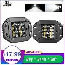 """CO LIGHT 80W Strobe LED Work Light 5"""" Car styling Offroad Driving Light Bar Flood Beam Auto for SUV 4WD ATV Trucks Boat 12V 24V"""