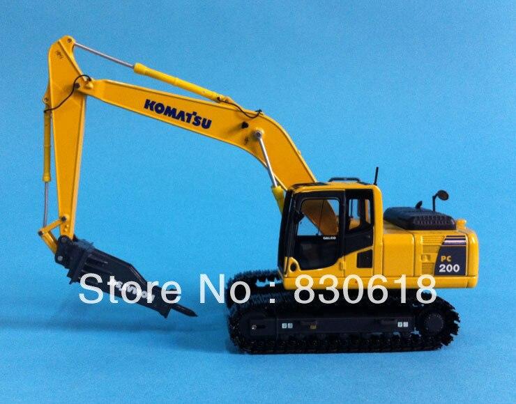 1:50 масштаб Komatsu PC200 Дрель Металл модель Строительные машины игрушки