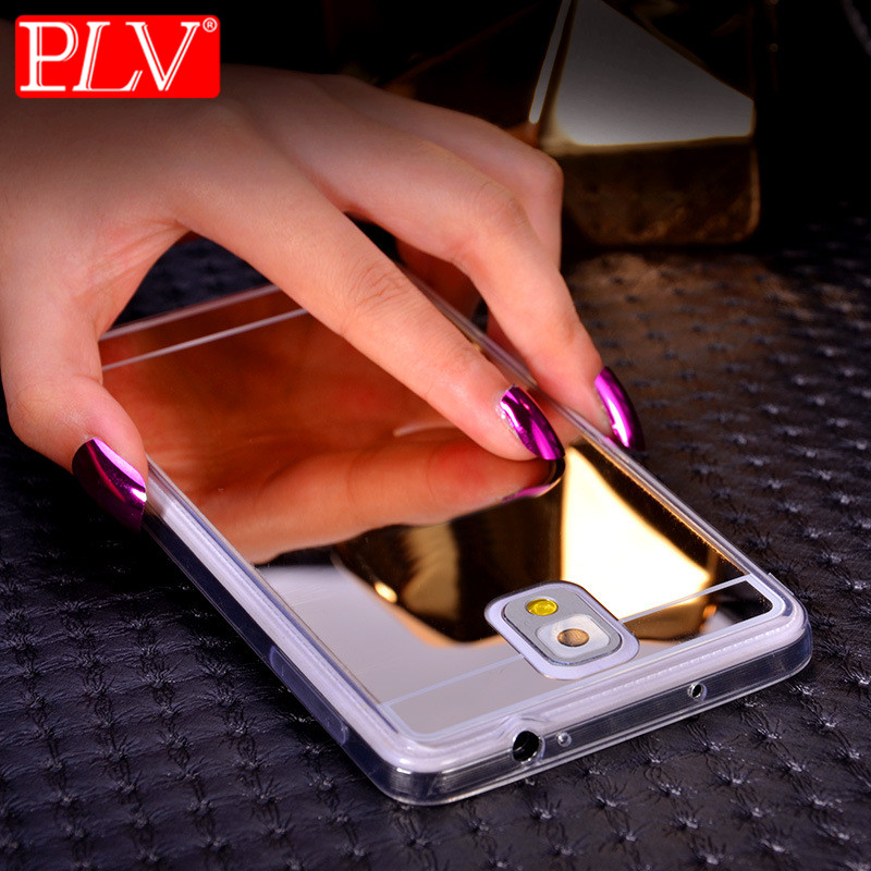 PLV Plating Mirror Soft TPU Back Case Cover For Samsung Galaxy S8 S8 Plus A5 A7