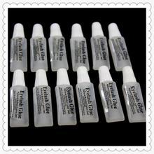 Fashion Eyelash glue plastic tube Travel transparent glue 2 ml false eyelashes makeup tool