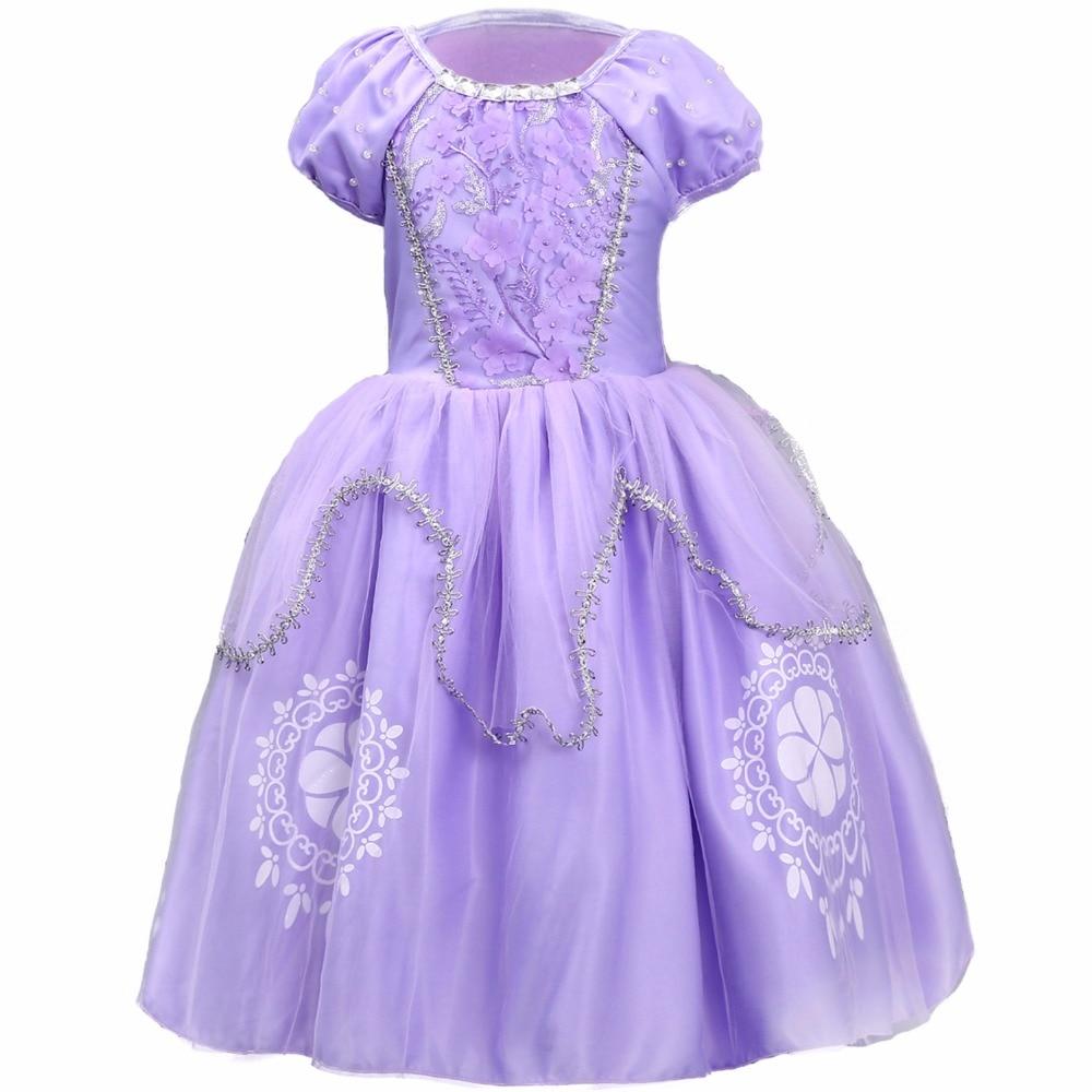 Sofia Princess Dress Kids Cosplay Costumes Girls New Arrival: NEW Fancy Dress Baby Girls Kids Clothes Cartoon Sofia