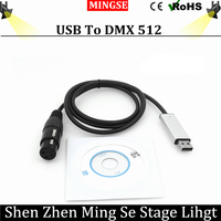 USB To DMX Interface Adapter LED DMX512 Computer PC Stage Lighting Controller Dimmer For LED Effect