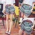Women Print Casual Summer Shorts 2017 New Brand Elastic Waist Vintage Hot Shorts Bohemian Style Sexy Female Short Pants Slim