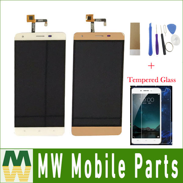 1PC /Lot For Oukitel k6000 pro LCD Display+Touch Screen Digitizer Assembly Replacement Black Gold Color With Kit