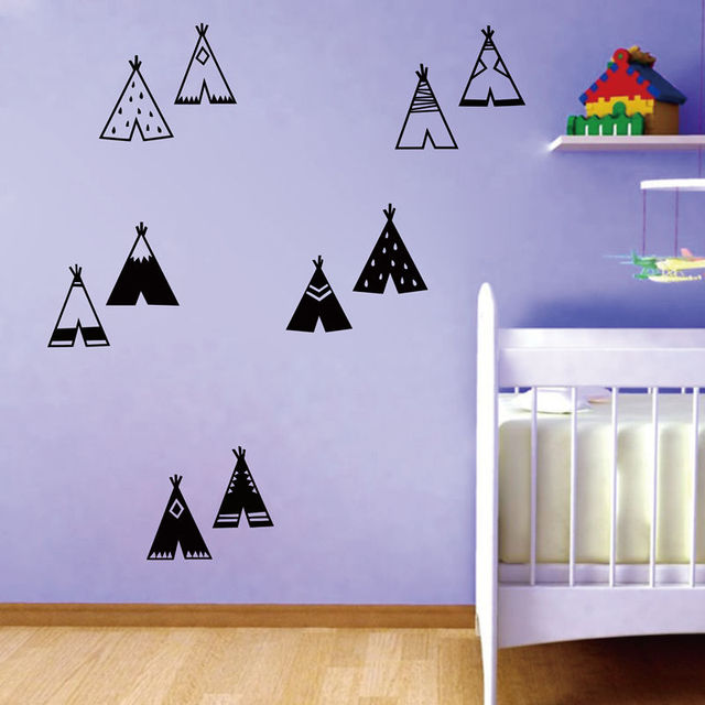 Teepee Wall Stickers for Kids Room