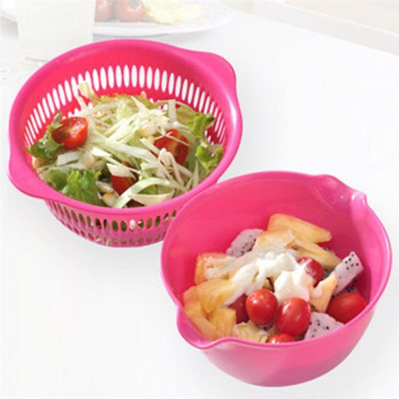 Wash Fruit Vegetable Sieve Plastic Kitchen Drain Basket