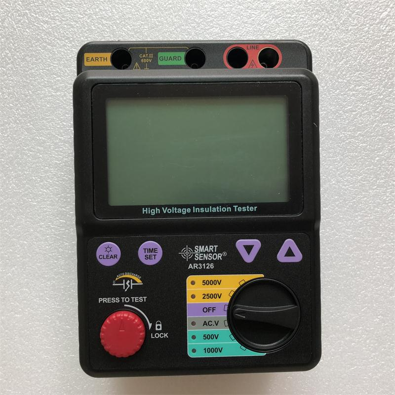 Smart Sensor AR3126 Digital High Voltage Insulation Resistance Tester 500~5000V / 0M~1000Gohm Megohmmeter Megger