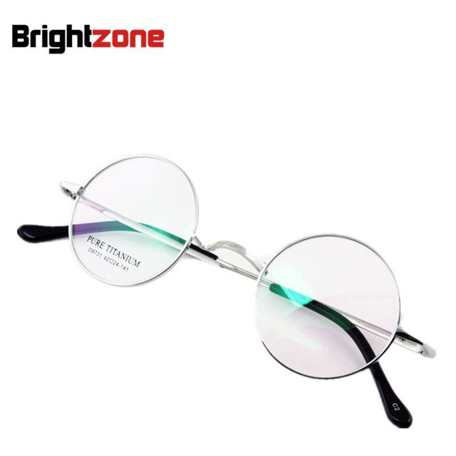 Vintage Happy Potter John Lennon Zhou Xun Round Circle Pure Titanium glasses myopia presbyopia prescription glasses frame