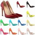 2016 Talones del 11 CM Slip-on Punta estrecha Mujeres Bombas Partido/de La Boda Plataforma Bombas Sexy Lady Zapatos de tacón de Aguja de las mujeres atractivas Shoes302-1