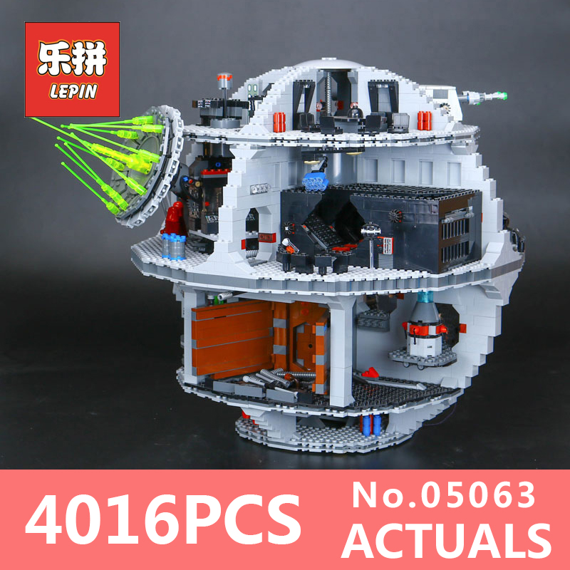 Star 4016Pcs Wars Lepin 05063 the Death UCS Star Building Block Bricks Toys Kits LegoINGlys 75159 for Children Holiday gifts lepin 05035 star wars death star limited edition model building kit millenniums blocks puzzle compatible legoed 75159