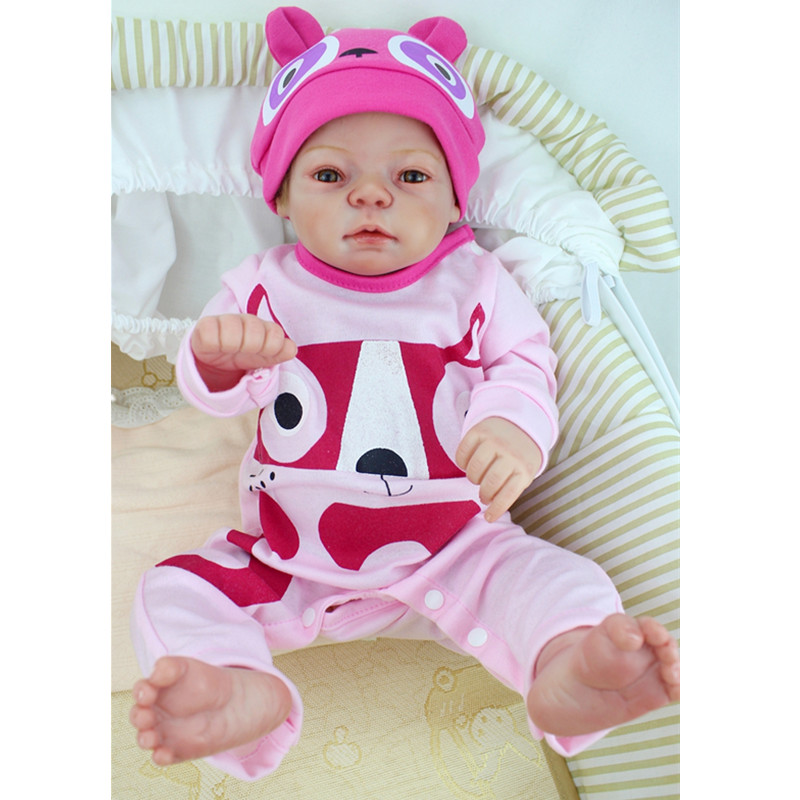2017 New 55cm Full Silicone Reborn Girl Baby Doll Lifelike Newborn Realistic Princess Babies Doll Lovely Birthday Gift Juguetes