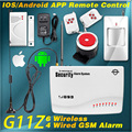 APP IOS/Android Remote Control ARM/Disarm Wireless/Wired Quad 4 Bands GSM Home Burglar Auto Dialer Voice Security Alarm System