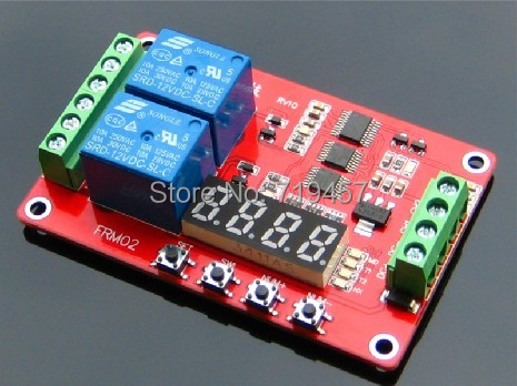 FREE SHIPPING  FRM02 2 Roads Multifunctional Relay Module / Loop Delay / Timer Switch / Self-locking / 5V,12 V 24V
