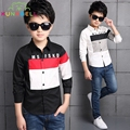 New 2017 Spring Children Shirts For Boys Casual Long Sleeve Patchwork Pattern Kids Boy Shirt Gentleman Boys Shirts Clothes H021