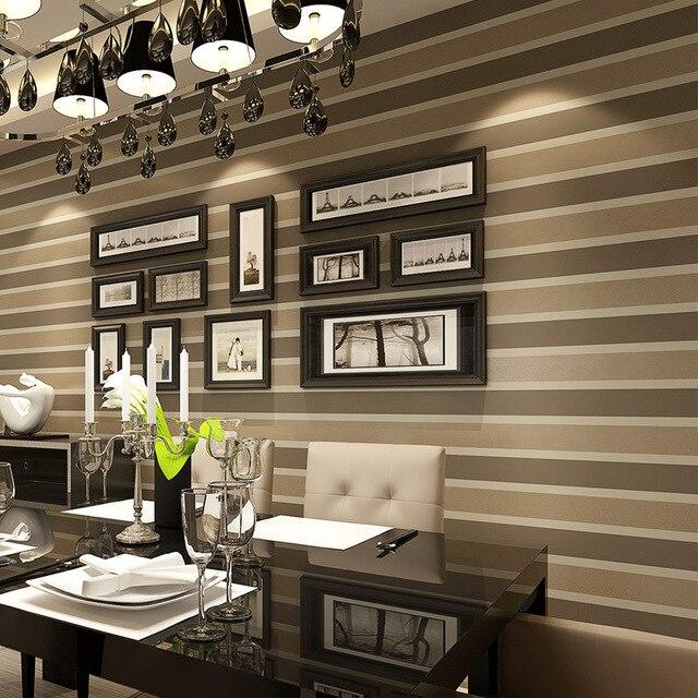 € 19.39 35% de réduction|Italian Style moderne 3D relief bande d\'écran For  Living argent chambre et gris rayé Wallpaper rouleau fond d\'écran N424 dans  ...