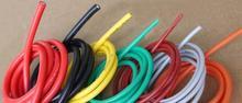 5 M 24 AWG Esnek Silikon Tel RC Kablo 24AWG 40/0. 08TS Dış Çapı 1.5mm Ile 10 Renkler seçmek için