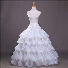 2018 Nova 4 5 Aros Camadas De Folhas de Lótus Saia Crinolina Deslizamento Underskirt Para vestido de Noiva Vestido de Noiva Em Estoque