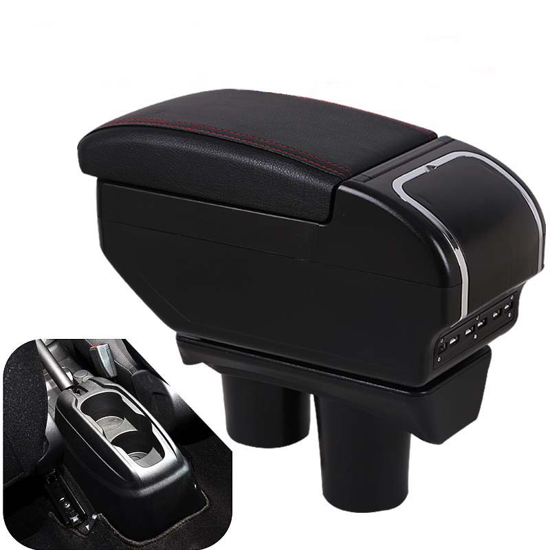 car armrest box with usb for citroen c elysee peugeot 301 2012 2017 central store content. Black Bedroom Furniture Sets. Home Design Ideas