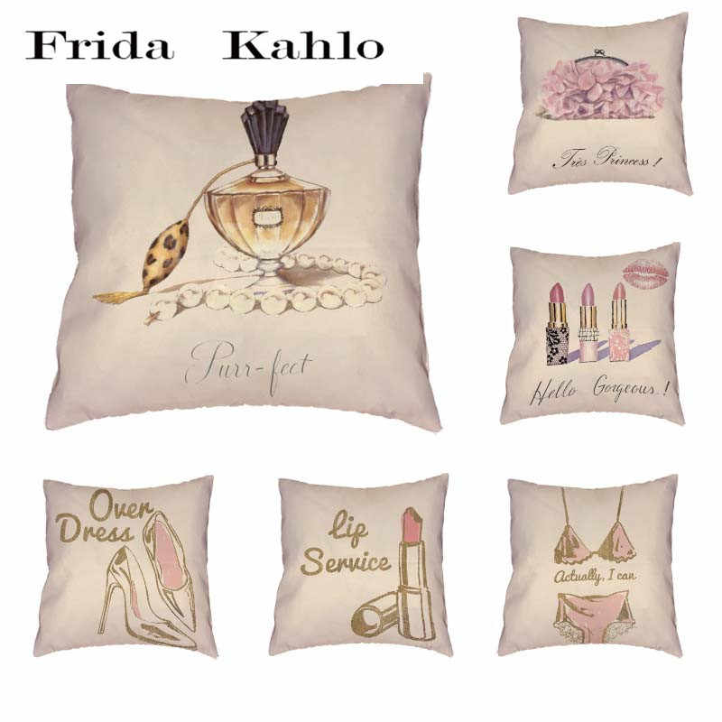 Detail Feedback Questions about Women s Supplies Pattern Cushion Cover  Polyester Peach Skin Perfume Scented Underwear Lipstick Fashion Pillow Home  ... 3bf2893295