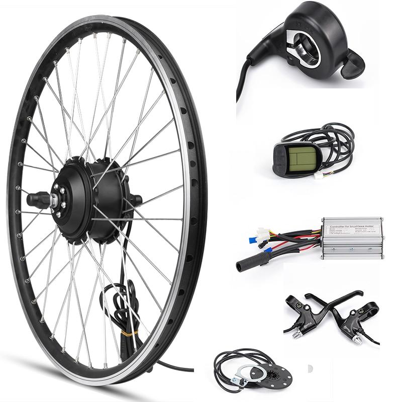 Front Motor Wheel 36V 500W Ebike Kit Electric Bike Conversion Kit LCD Regeneration Electric Bicycle Wheel Kit for 20 28inch 700C