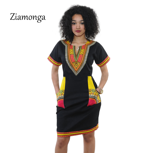 Ziamonga 3XL Plus Size Dress African Clothes Dashiki Dress For Women ...