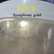 """Серия """"Симфония"""" золотой цвет натуральный лак для ногтей порошок, Nacreous тени для век порошок, мыло краситель слюда/жемчужный порошок, автомобильная краска порошок"""