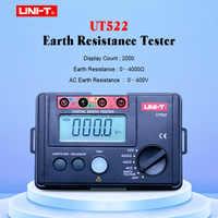 UNI-T UT522 พื้นดินดิจิตอล 0-400 V 0-4000 โอห์ม AC เครื่องทดสอบความต้านทานฉนวนข้อมูล hold & จอแสดงผล lcd backlight