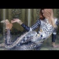 Christia Bella Luxury Crystals Women Jumpsuits Stretch Rhinestones Bodysuits Party Rompers Nightclub Jazz Dj Singer Stage Wear