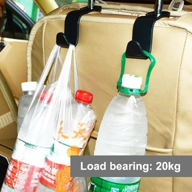 Car Organizer Seat Back Hooks Vehicle Hidden Headrest Hanger for Handbag Shopping Bag Car Accessories Storage Hanger Car Hooks