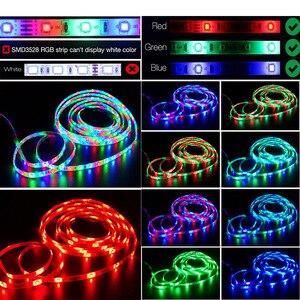 Image 5 - Led Strip Light 2835 SMD RGB Tape 5M 10M 15M 20M DC12V 3528 Flexible RGB LED Stripe Ribbon Diode +24Key Controller+ Adapter EU