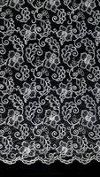 Ivory Embroidery and Corded Bridal Lace Fabric Corded Bridal Wedding Lace Fabric for Wedding Dresses Bridal Gowns DIY