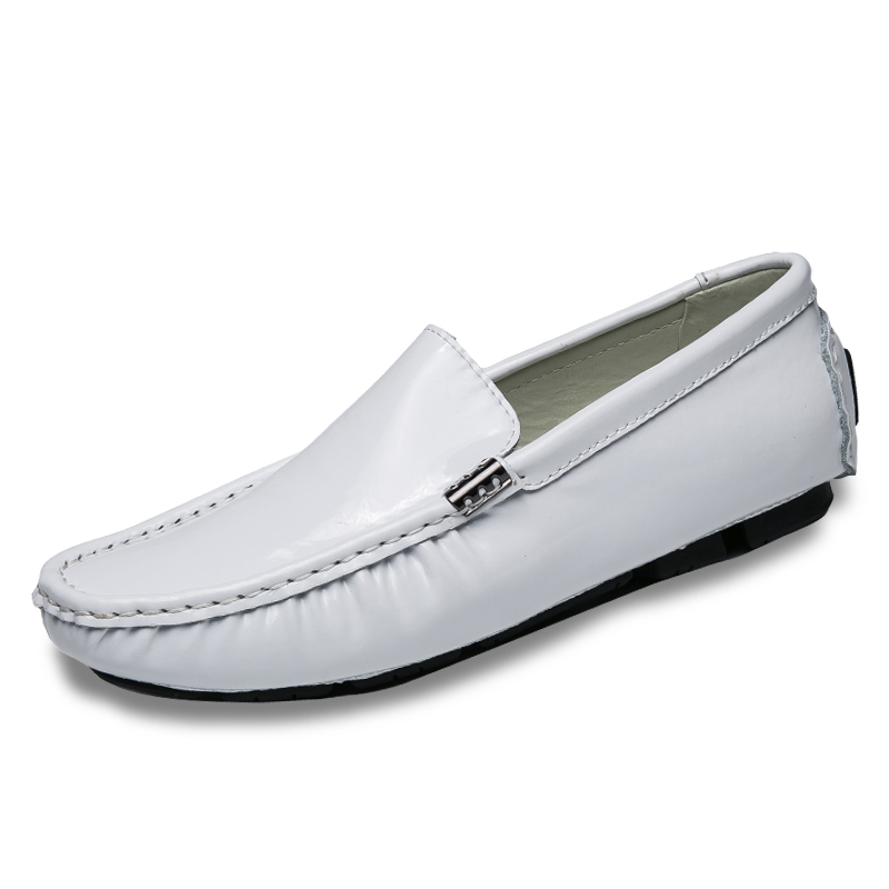 447a873cf045e4 Spring Autumn Men Driving Penny Loafers High Quality Mirror Shoes Men  Casual Shoes Slip On Leisure Large Size 38-47 Flats