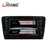 LJHANG 8 inch Wince Car DVD Player For VW Skoda Octavia III 2014 2015 GPS Navi HD Touch Screen Microphone Bluetooth free map RDS