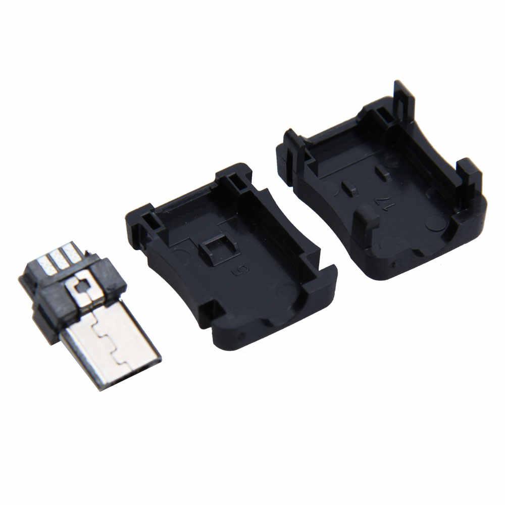 50 cái/bộ CỔNG Micro USB 5 Pin T Cổng Nam Cắm Ổ Cắm Cổng Kết Nối Nhựa Che BỤI GQ999