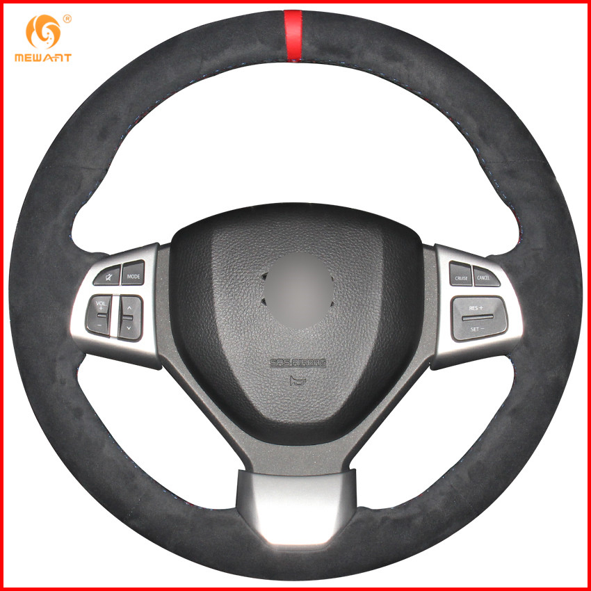 US $44 96 15% OFF|MEWANT Black Suede Car Steering Wheel Cover for Suzuki  Swift Sport 2012 2017 / Vitara S 2016 2019 Accessories Parts-in Steering