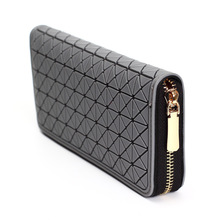 High Capacity Fashion Women Wallets Long Dull Polish PU Leather Wallet Female Zipper Clutch Coin Purse Ladies Wristlet