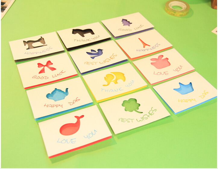 New design 2015 cute elf series mini greeting card universal wishing new design 2015 cute elf series mini greeting card universal wishing cards christmas card wholesale 12pcslot on aliexpress alibaba group m4hsunfo