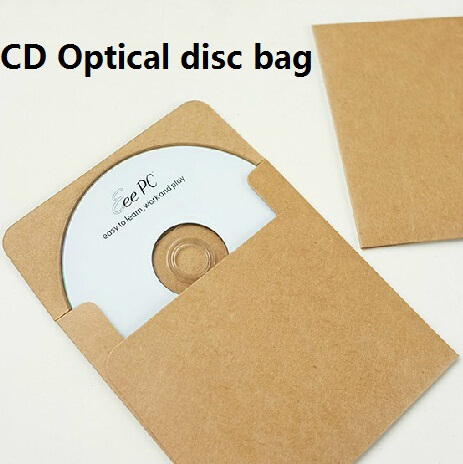 5pcs/lot Vintage CD Optical Disc Envelope Kraft Paper CD Bag DIY Card Bag  Package Bag